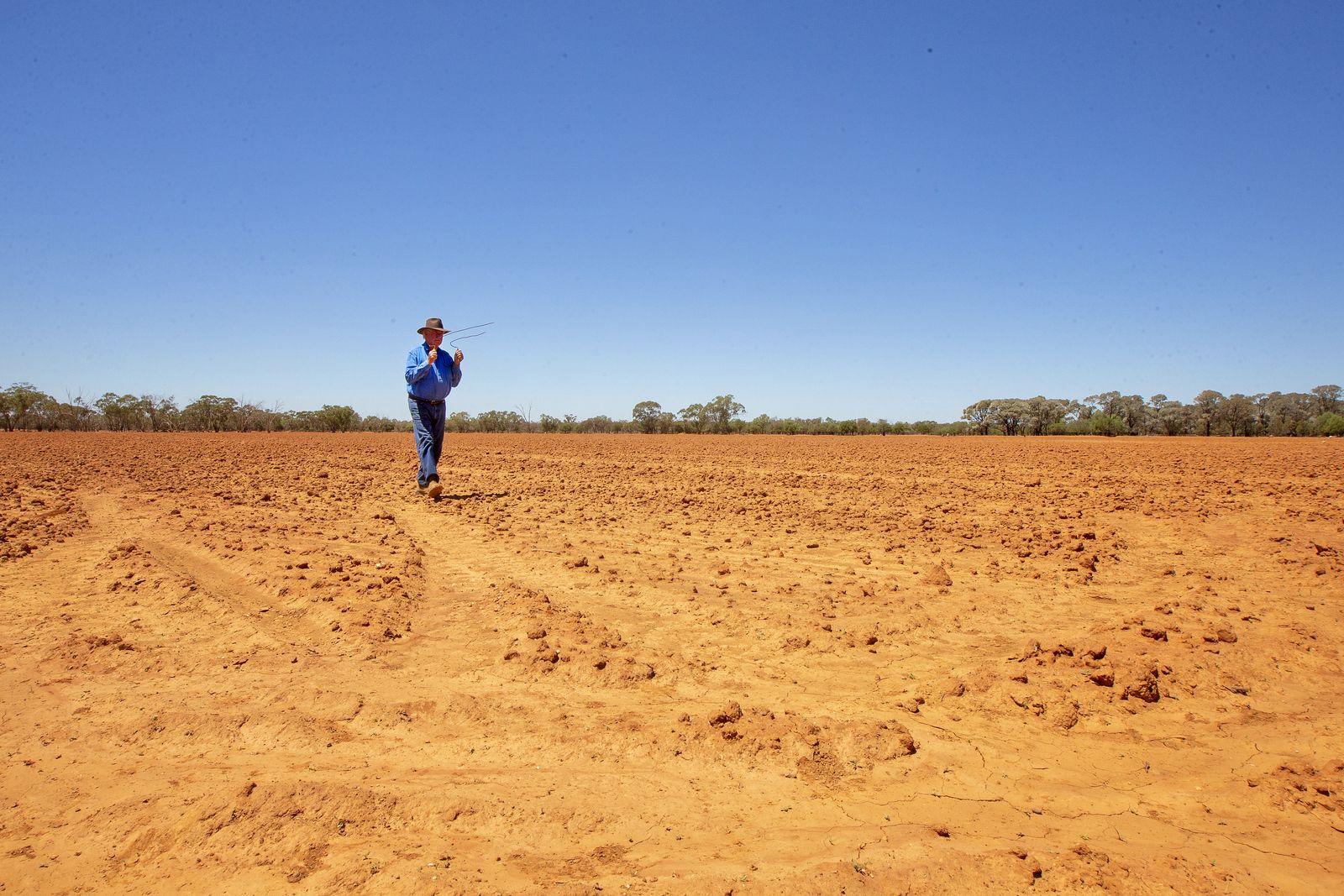 EINMALIGE VERWENDUNG Australien / Dürre