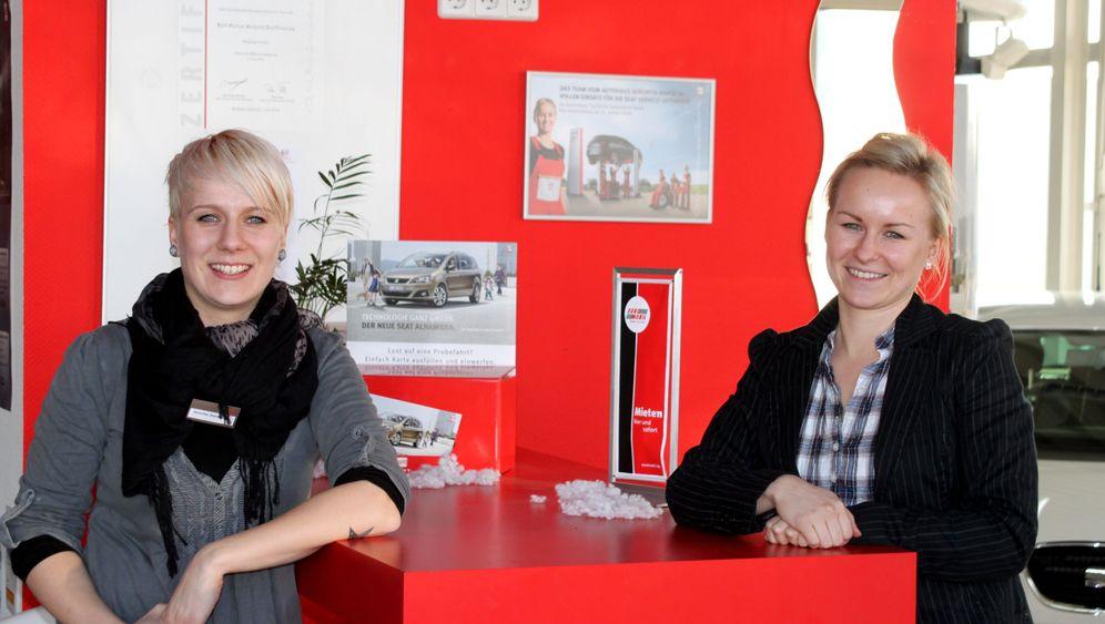 Frauen-Autohaus: Mit Kussmund und Pendelstütze