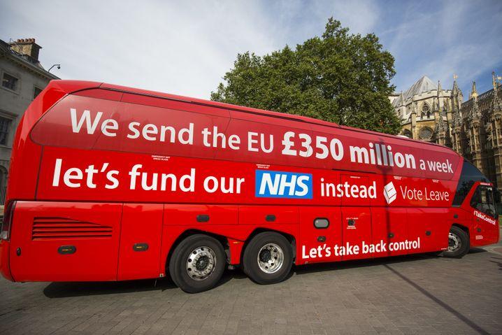 NHS ausgespielt gegen die EU: Schon in der Brexit-Kampagne spielt der NHS eine große Rolle