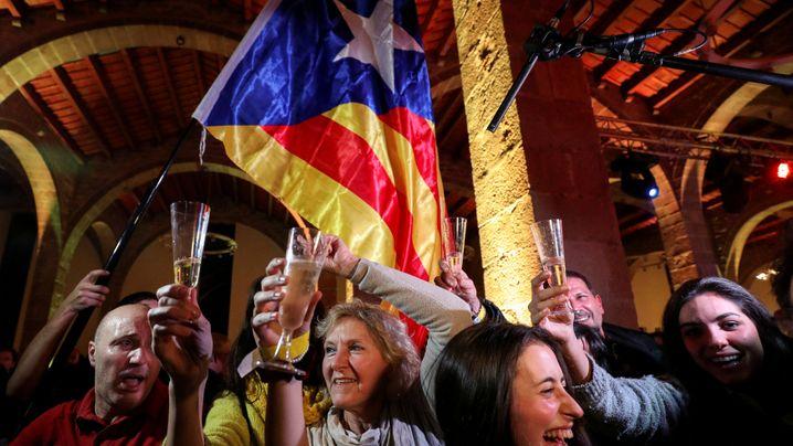 Wahl in Katalonien: Der Jubel der Separatisten