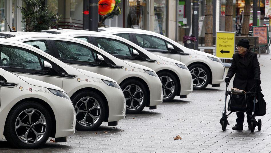 Elektroautos in einem Carsharing-Projekt: Nur 0,04 Prozent aller Pkw sind Carsharing-Wagen