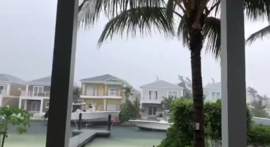 "Nassau, Bahamas kurz vor Ankunft des Wirbelsturms ""Dorian"""