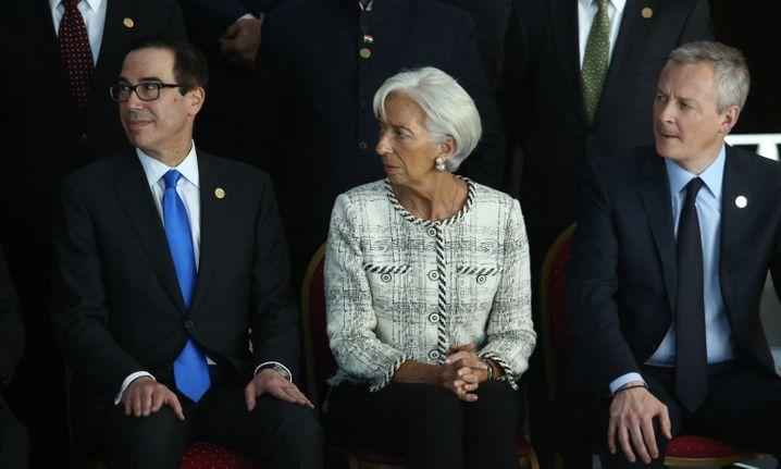Steven Mnuchin, Christine Lagarde, Bruno Le Maire