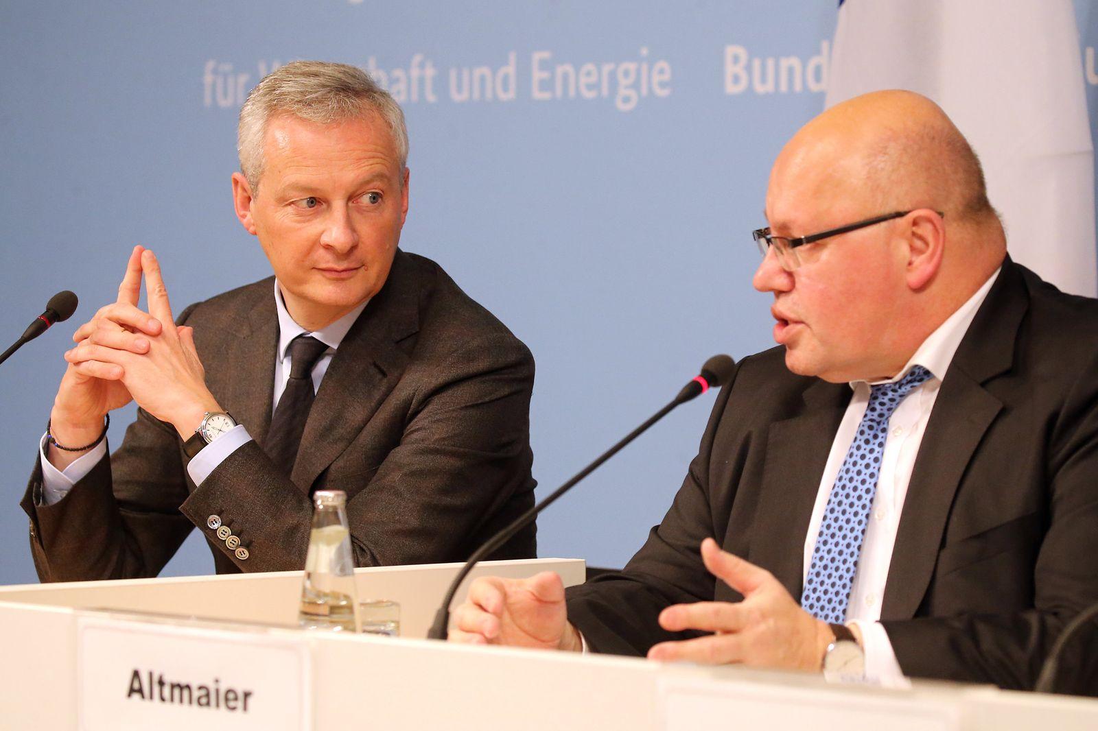 Altmaier und Le Maire geben Statement ab