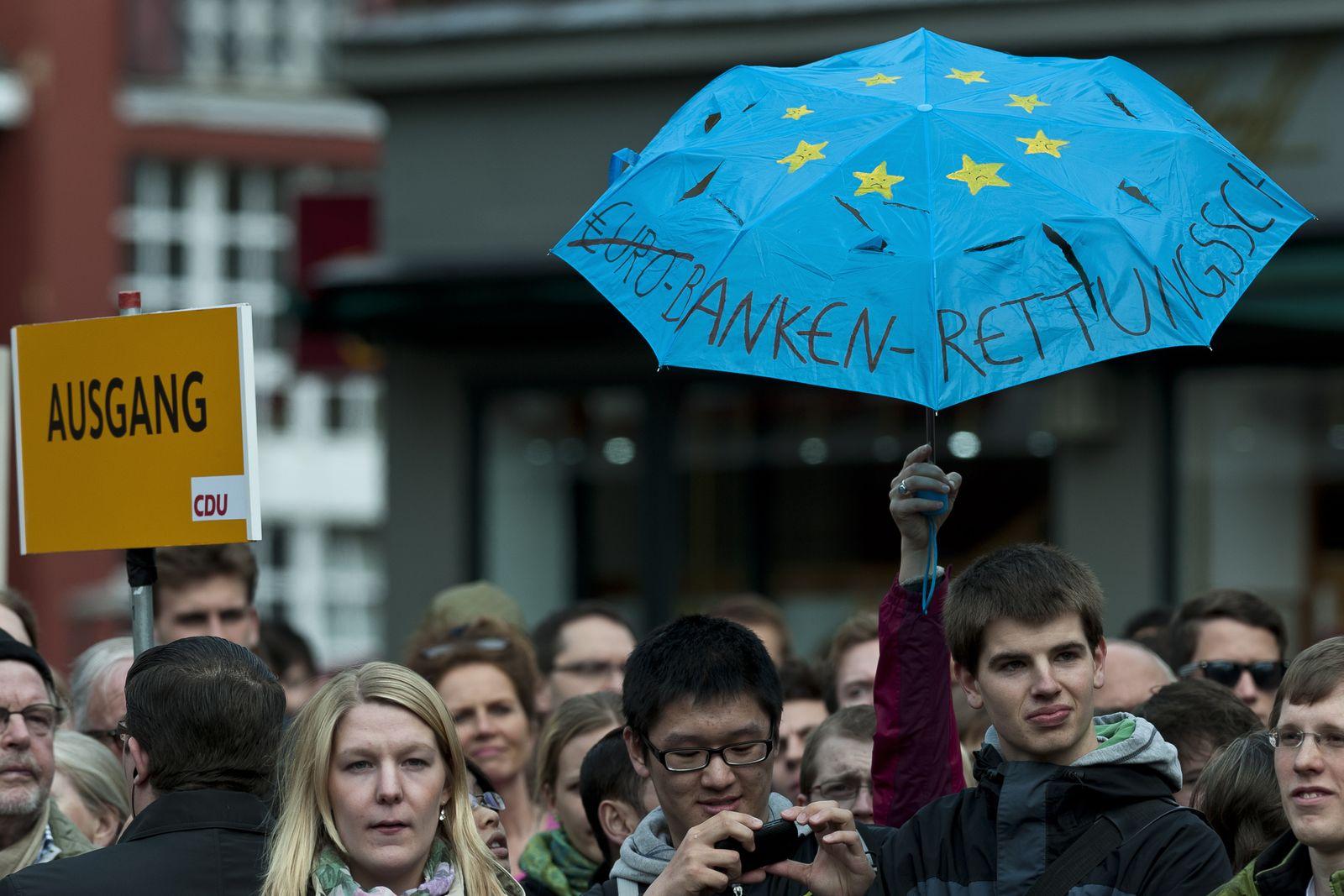 NICHT VERWENDEN Euro-Rettungsschirm/ Protest