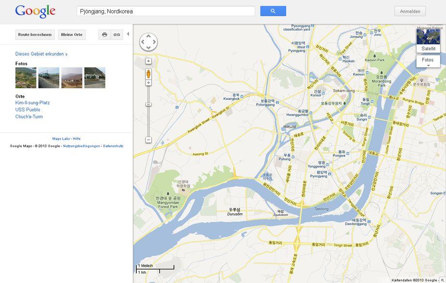 Südkorea Google Maps