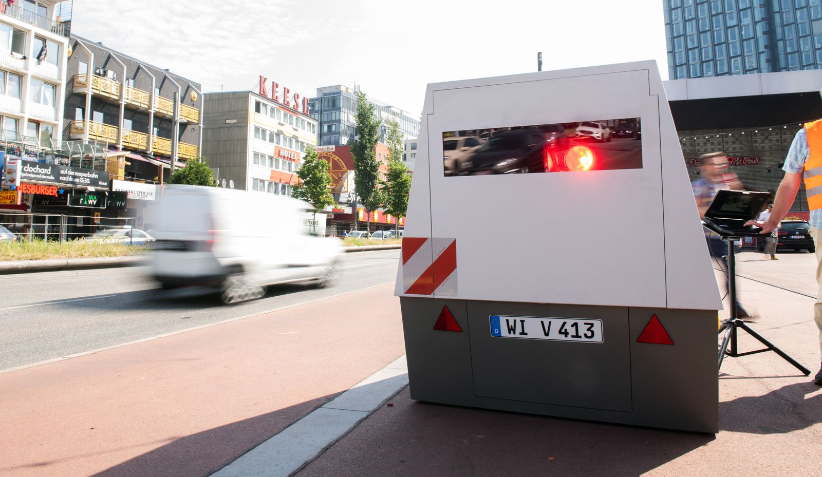 Mobiler Blitzer / Geschwindigkeitskontrolle
