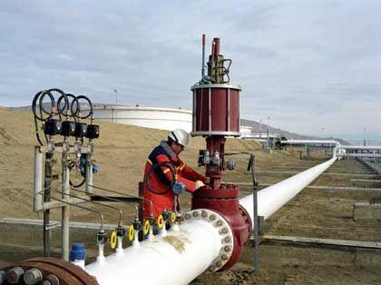 A BP pipeline terminal in Azerbaijan.