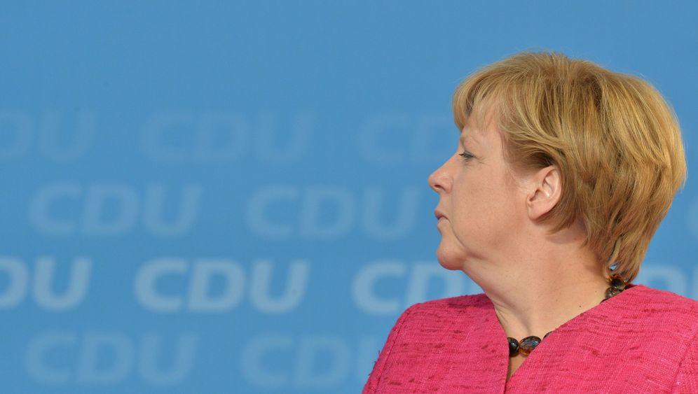 Photo Gallery: Merkel Hits the Stump