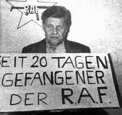 Von der RAF entführt und ermordet: Arbeitgeberpräsident Hanns Martin Schleyer