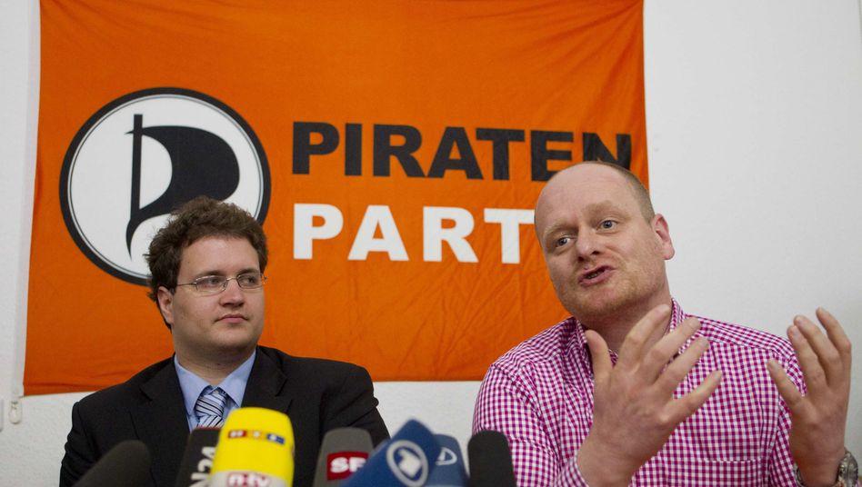 """Ex-Piraten-Chef Nerz, Schlömer (im Jahr 2012): """"Darf nicht alles sinnlos sein"""""""