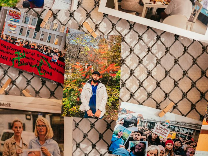 Foto von Ferhat Unvar in den Räumen einer Hanauer Initiative für Hinterbliebene: den Kopf voll mit Ideen