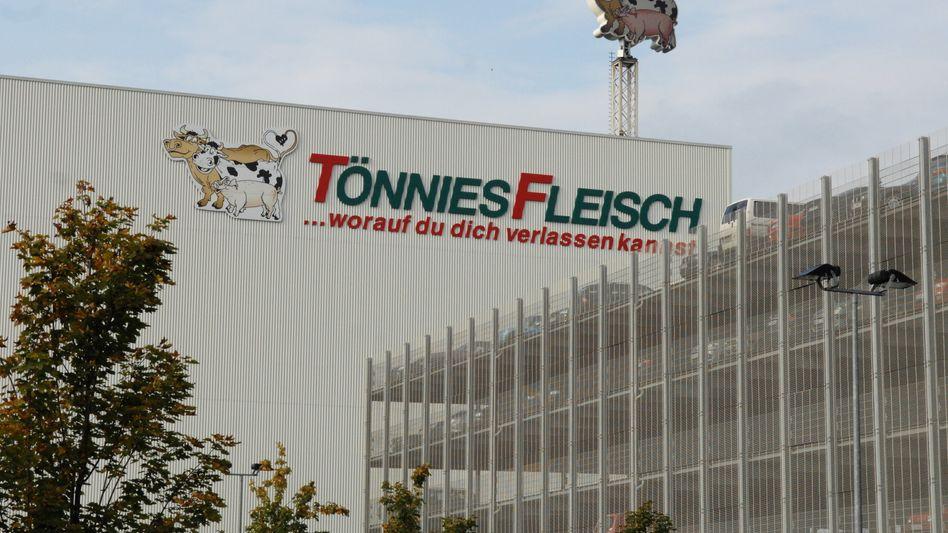 Fleischfabrik Tönnies in Rheda-Wiedenbrueck: