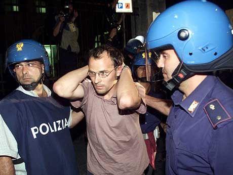 In der Schule wurden alle Protestler festgenommen - bisher ohne Begründung
