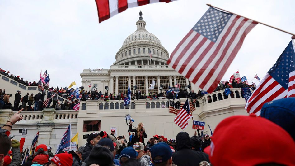 Demonstration am Capitol in Washington am 6. Januar 2020
