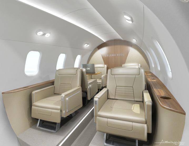 So könnte es im Innenraum des neuen Flugzeugs einmal aussehen