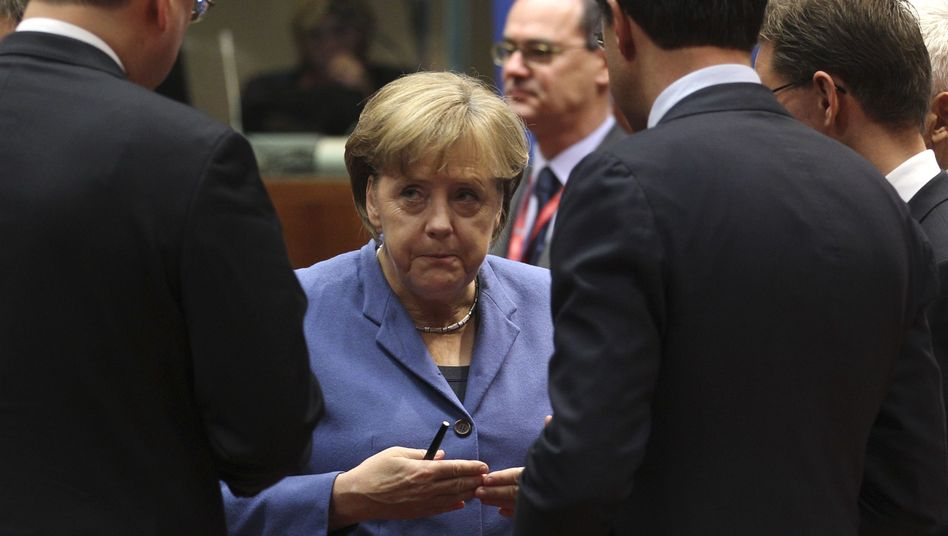 German Chancellor Angela Merkel at an EU summit last month.