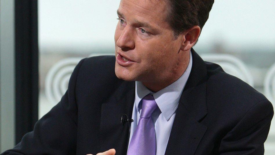 """Nick Clegg, Chef der britischen Liberaldemokraten: """"Nicht mehr der einzige Schnösel"""""""