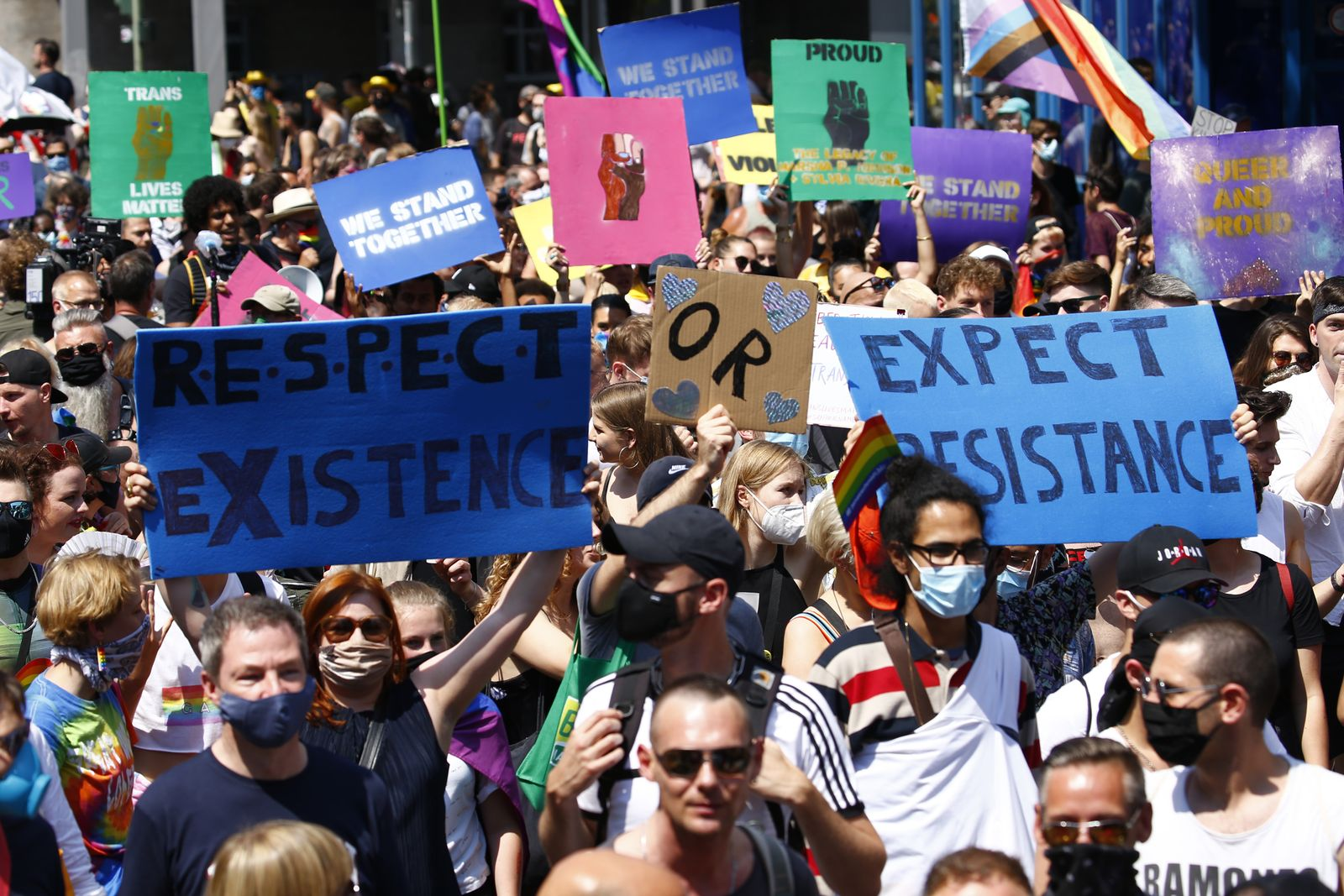 Berlin Pride March During The Coronavirus Pandemic