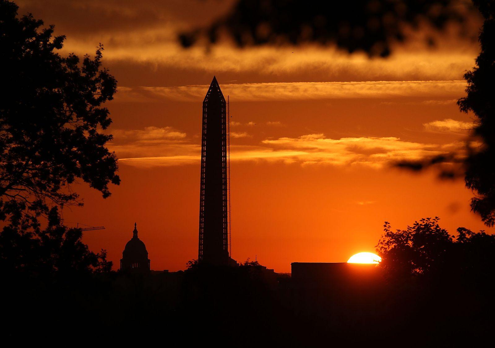 Skyline Washington Sonnenuntergang