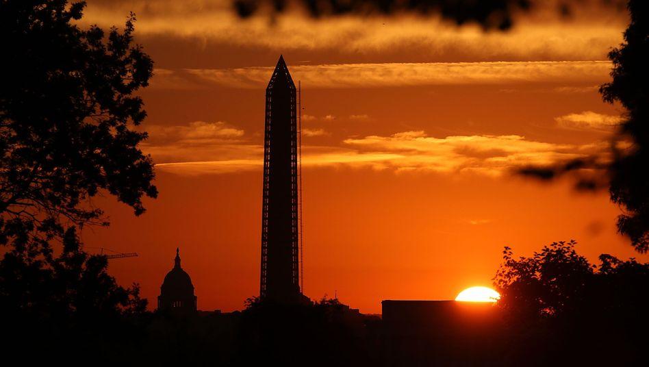 Kapitolsgebäude und Washington-Monument: Kaum mehr ein Ausweg