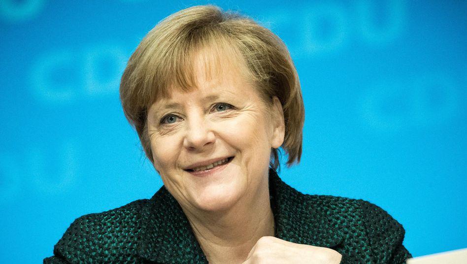 """Bundeskanzlerin Angela Merkel beim Bundesparteitag der CDU (Archivfoto): """"Die mächtigste Frau der Welt"""""""