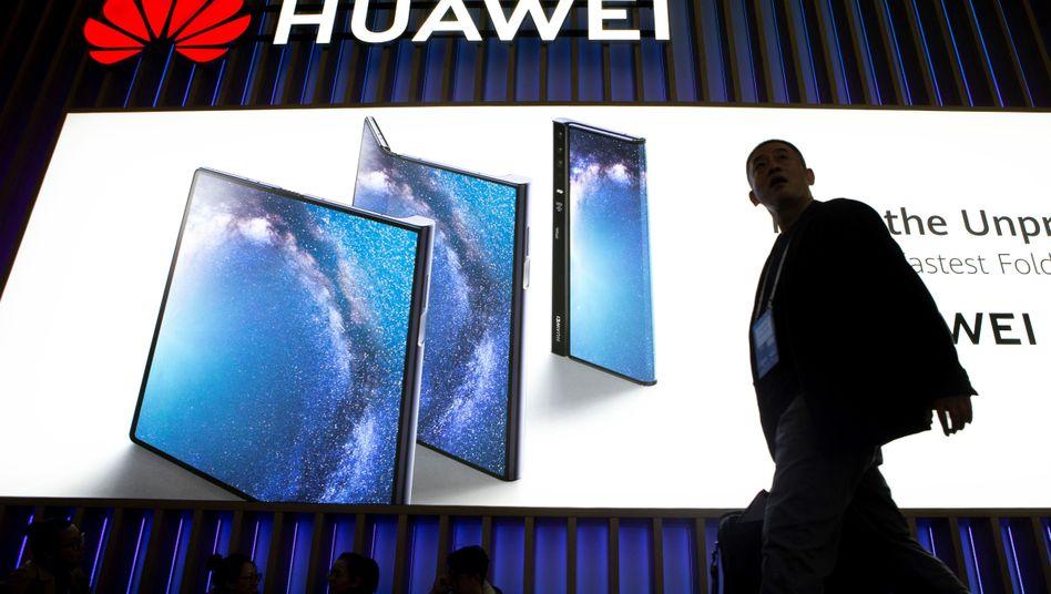 Messestand von Huawei in Barcelona