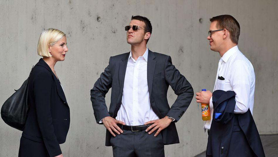 Zschäpe-Verteidiger Anja Sturm, Wolfgang Stahl und Wolfgang Heer (v.l.): Sie wollen entpflichtet werden