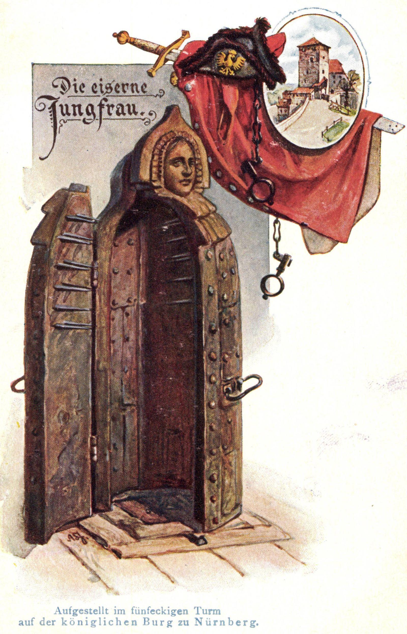 N¸rnberg Die eiserne Jungfrau Justiz Turm AUFNAHMEDATUM GESCH?TZT