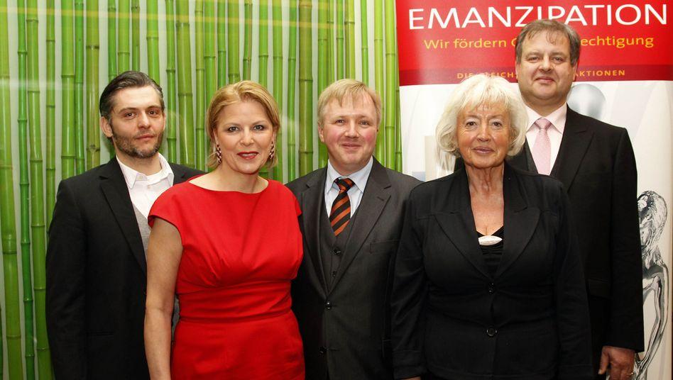 Gewinner Steinmetz, Gericke, Dammann (v. links), Ulrike Detmers und Renate Schmidt: Kampf um die Quote