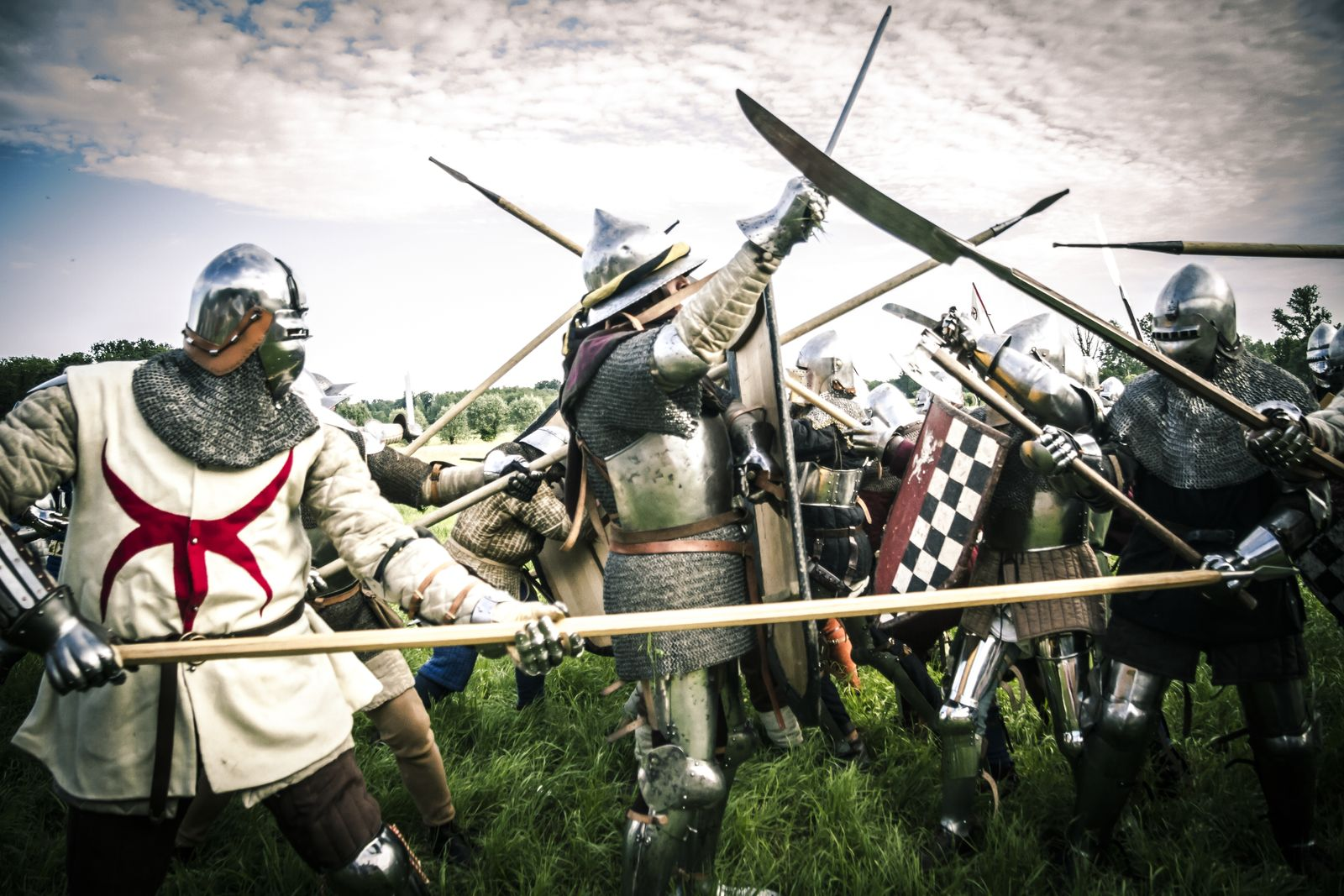 Mercenary soldiers, Historical reenactment