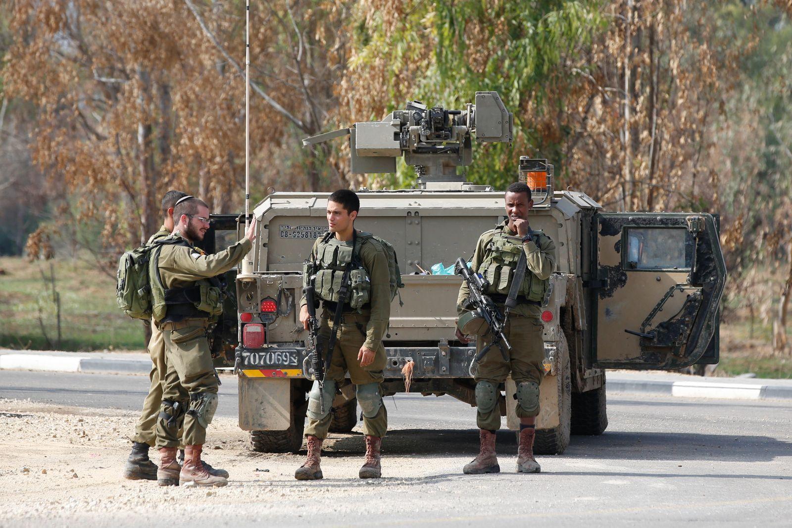 Israel boosts security measures in Gaza amid rising tensions, Gaza Border - 12 Nov 2018