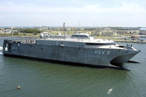 US-Schnellboot: Mit Wasserstrahl unterwegs