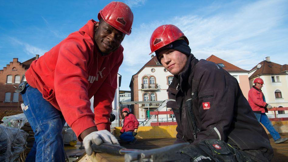 Auszubildende in der Bauwirtschaft in Esslingen (Baden-Württemberg)