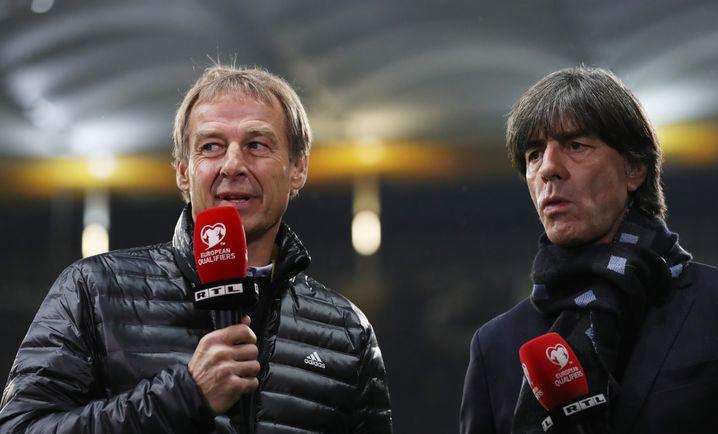 Zuletzt arbeitete Klinsmann (l.) als TV-Experte bei Spielen der Nationalmannschaft