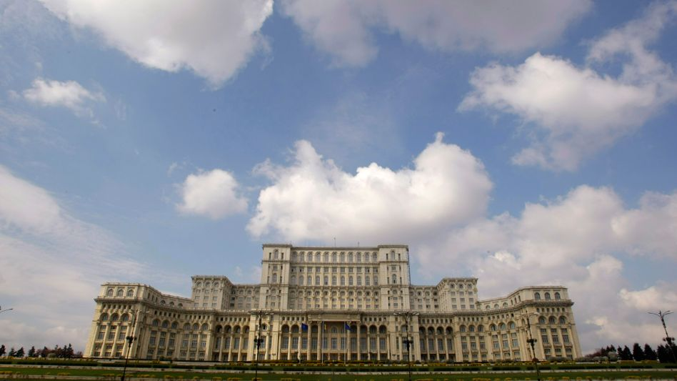 Romania's parliament building: A furor has erupted in the country after a TV channel broadcast an anti-Semitic song.