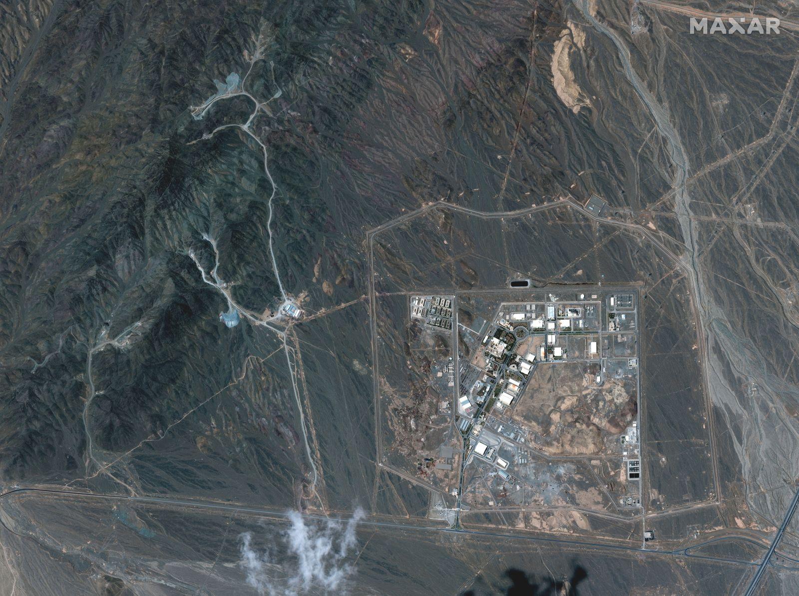 A view of the Natanz uranium enrichment facility 250 km (155 miles) south of the Iranian capital Tehran