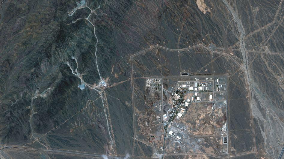 Satellitenaufnahme der iranischen Atomanreicherungsanlage Natans (Archivbild)