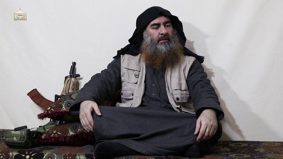 Aufnahme, die angeblich Baghdadi zeigt: Ein Video soll seine Autorität wiederherstellen