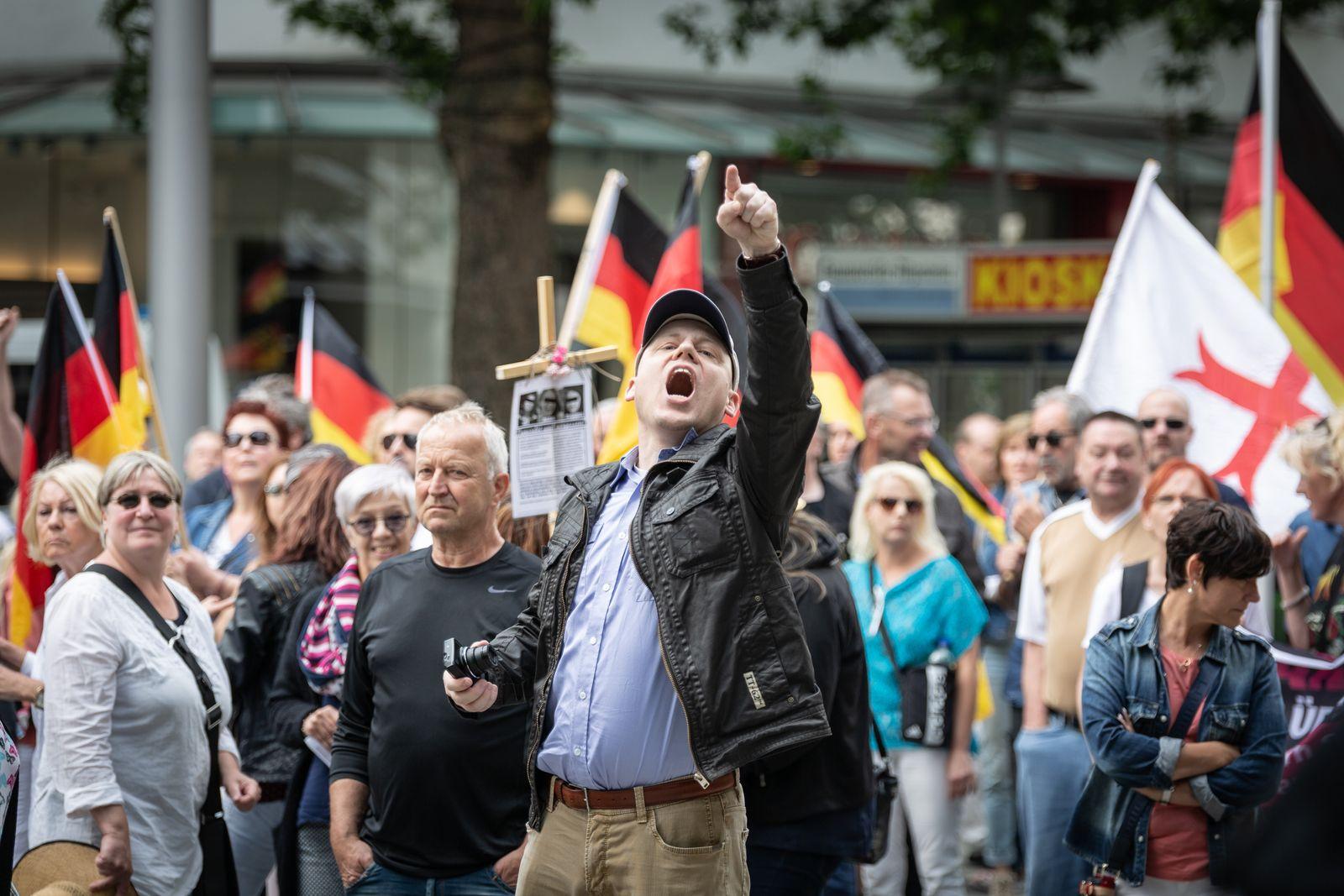 Far-right Hagida Rally In Hannover