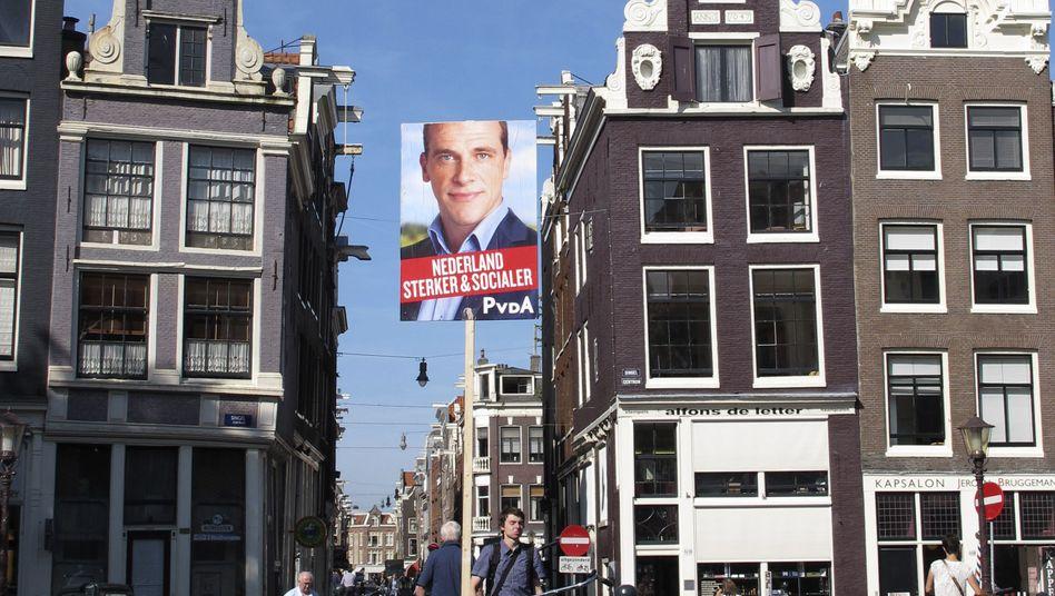 Werbung für den Sozialdemokraten Samsom: Sympathieträger in den TV-Debatten
