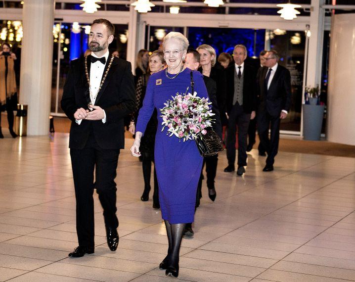 Königin Margrethe und der Bürgermeister von Aarhus, Jacob Bundsgaard