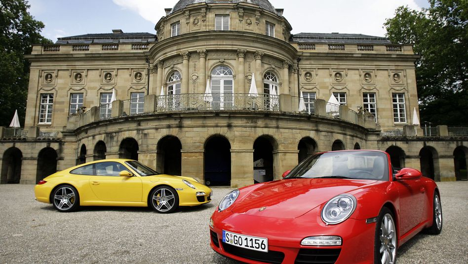 Porsche-Modelle in Ludwigsburg: Vermögen sind stark ungleich verteilt