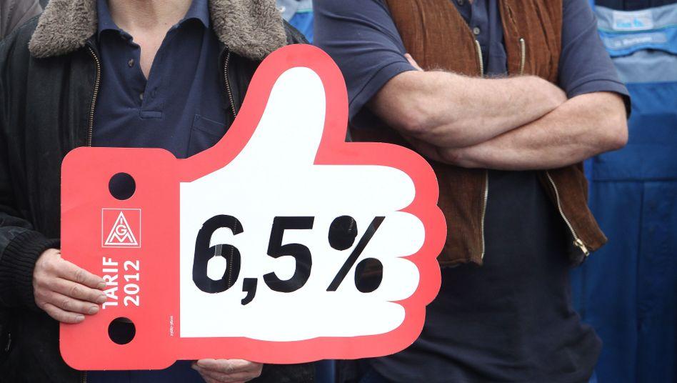 Warnstreik in Sachsen-Anhalt: 6,5 Prozent mehr Lohn und Übernahme der Lehrlinge