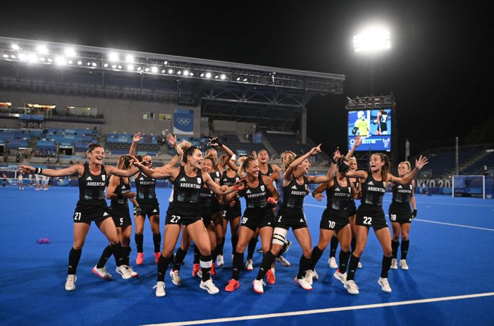 Argentinien feiert den Sieg im Halbfinale