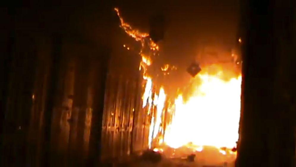 Bürgerkrieg in Syrien: Feuer auf Aleppos Basar