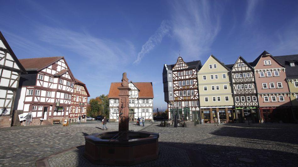 Marktplatz im Freilichtmuseum Hessenpark