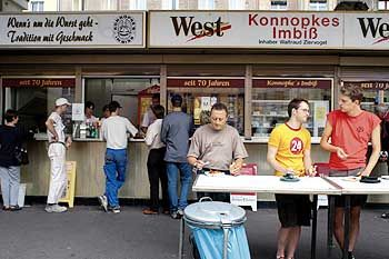 "A typical German ""Imbiss"" fast-food stand."