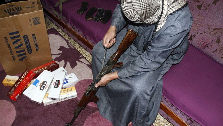 Irakischer Schmuggler in Mossul: Nur ein Bruchteil der Ware wird sichergestellt