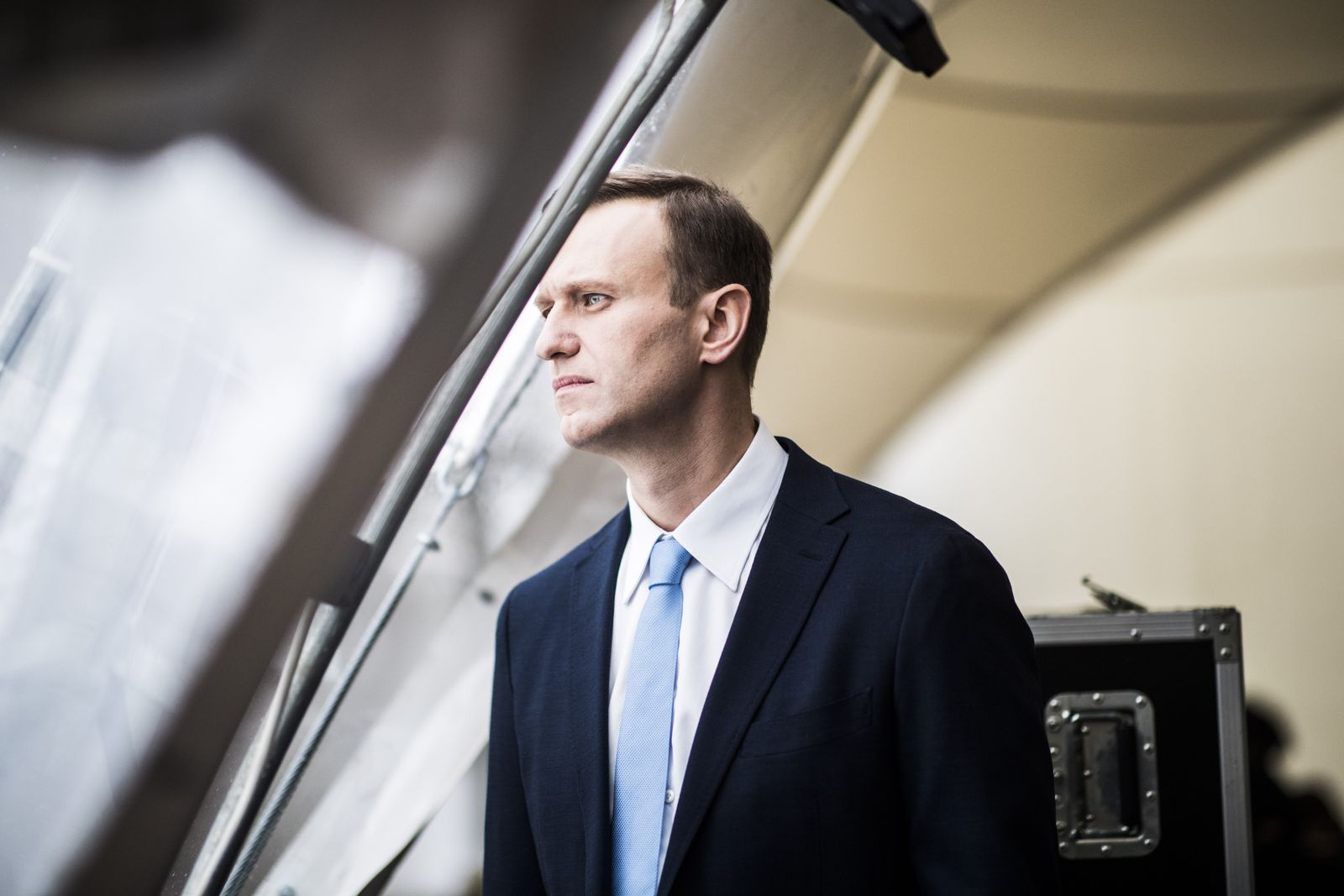 Russian opposition leader Alexei Navalny of candidate for Russian presidency